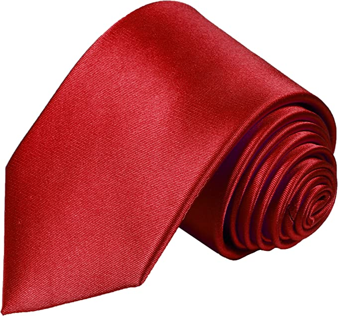 Paul Malone corbata de seda rojo uni (Largo 165cm) : Amazon.es ...