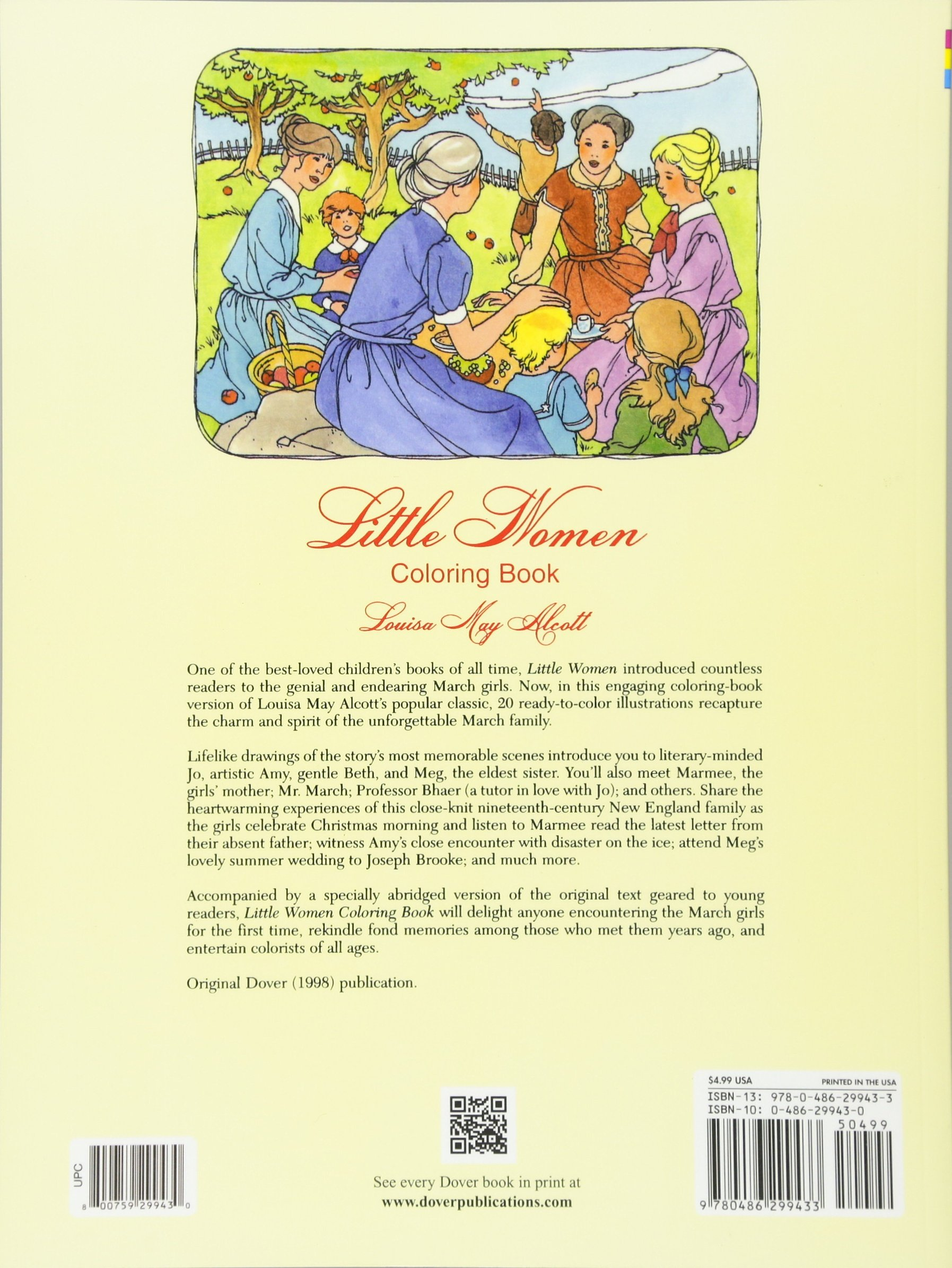Little Women Coloring Book Dover Classic Stories Louisa May Alcott Barbara Steadman 9780486299433 Amazon Books