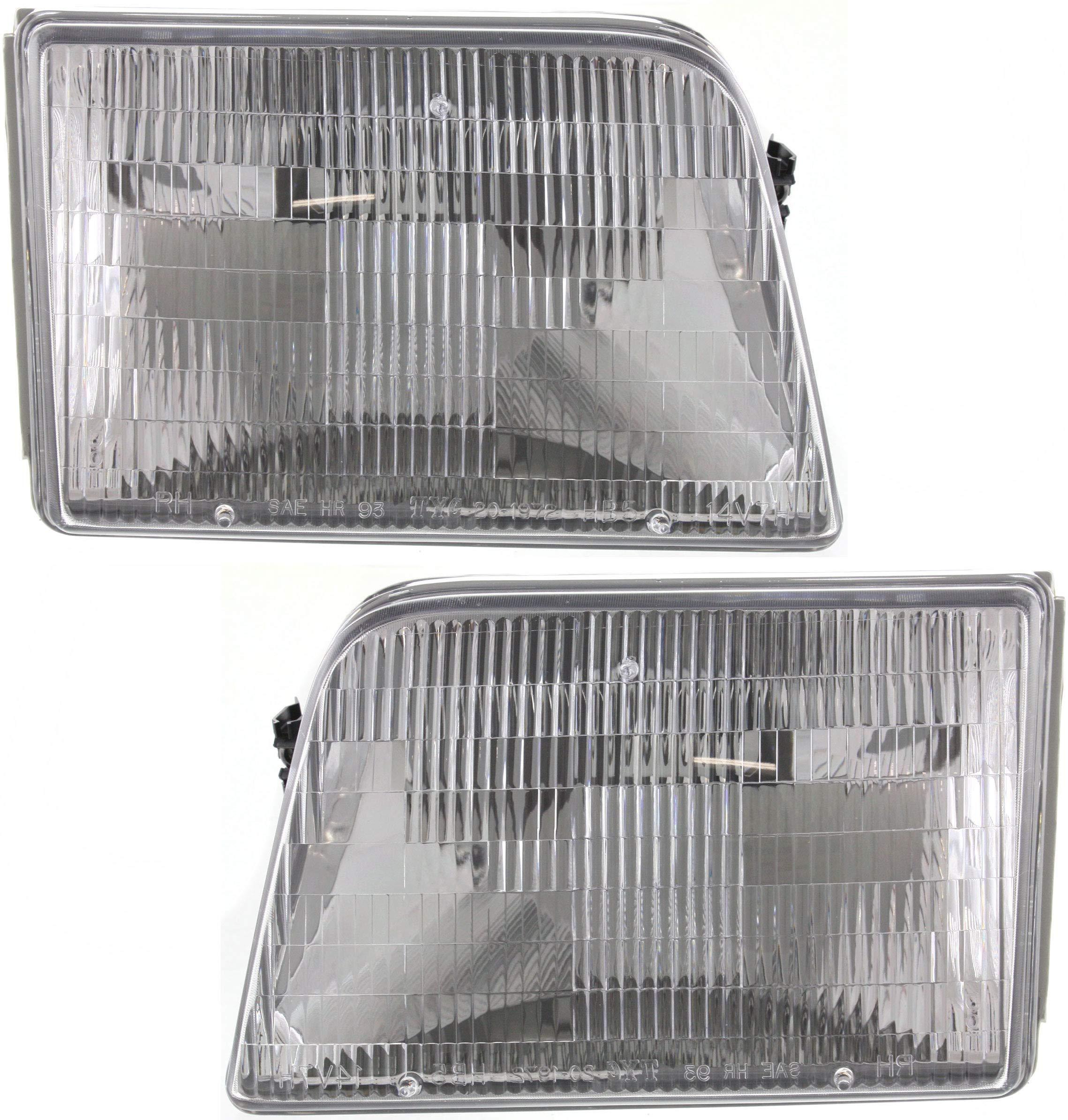 Headlight Set For 93-97 Ford Ranger Driver and Passenger Side w// bulb