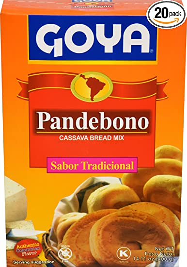 Goya Foods Pandebono Traditional Cassava Bread Mix, 14.1 Ounce (Pack of 20)