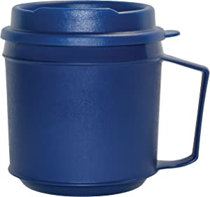 Rehabilitation Advantage Insulated Mug with Tumbler Lid (8oz), Blue, Non-Weighted