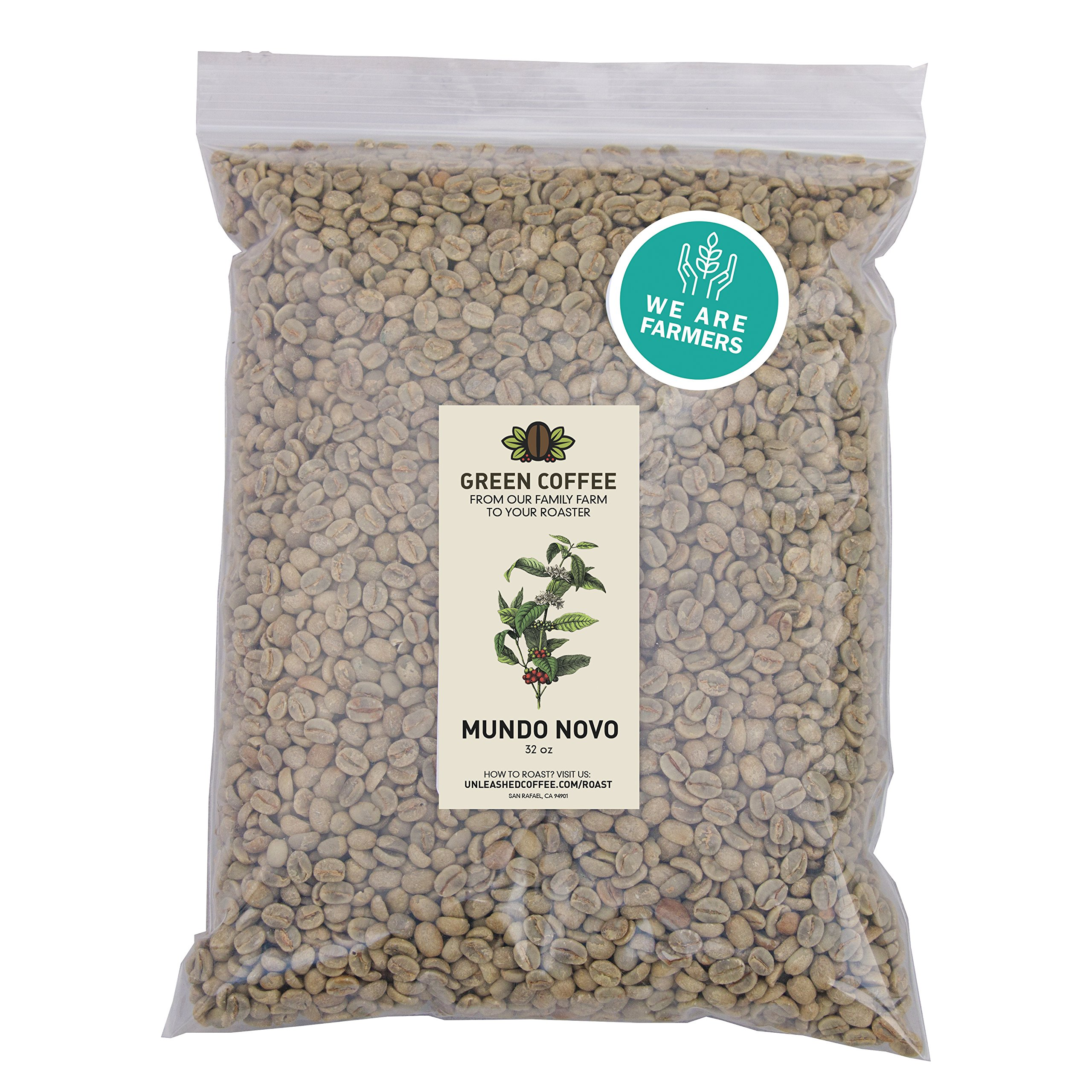 2lb Green Unroasted Coffee Mundo Novo varietal - From our family farm