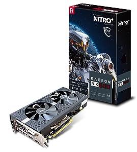 Sapphire 11266-09-20G Radeon Nitro+ Rx 570 8GB GDDR5 Dual HDMI/ DVI-D/ Dual DP with Backplate (UEFI) PCI-E Graphics Card