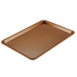 Ayesha Curry Bakeware Nonstick Cookie Pan, 11-Inch x 17-Inch, Copper