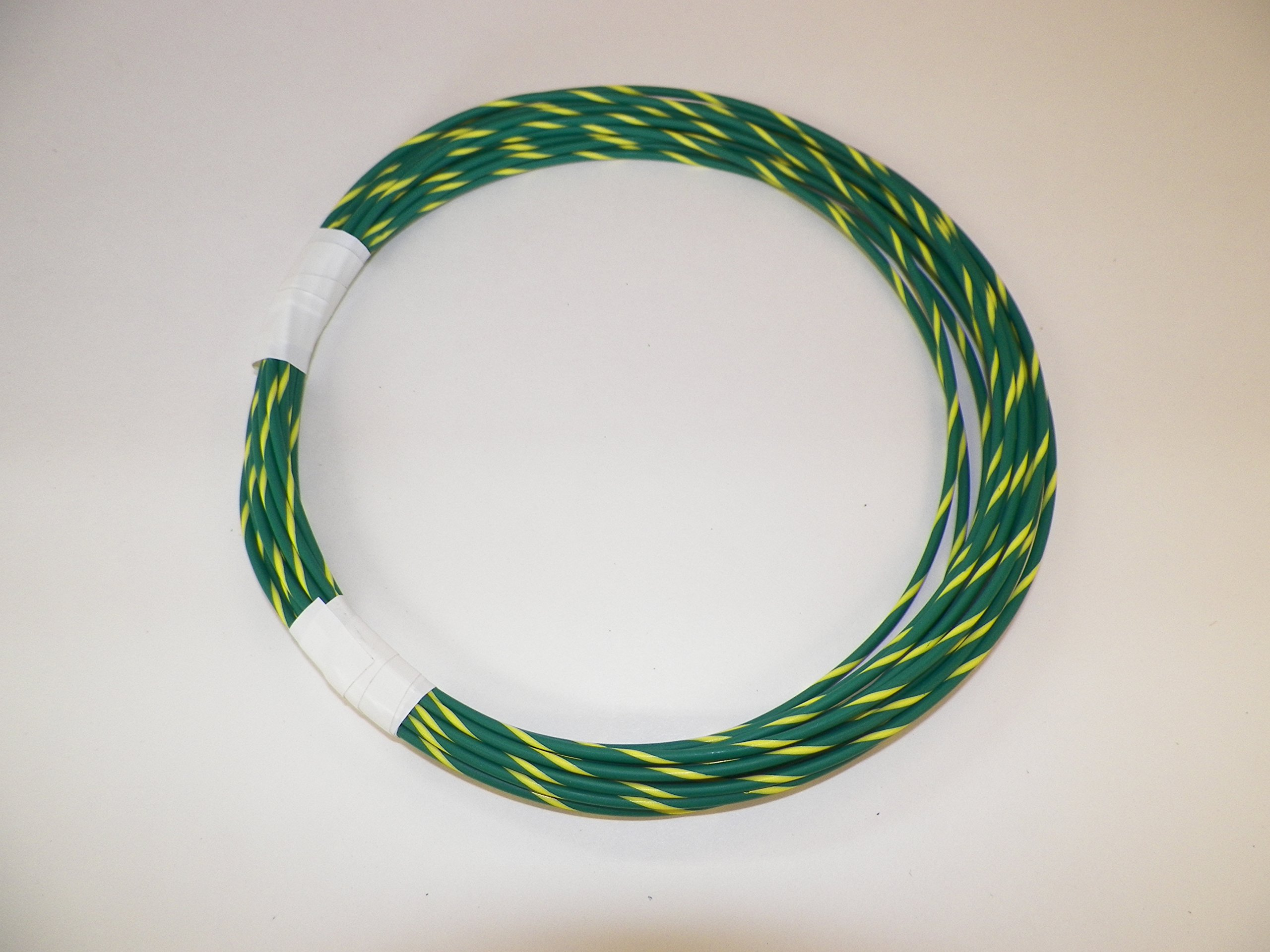 18 Ga Awg Green/Yellow Striped Automotive Truck Motorcycle General Purpose GXL Wire .94 O.D. 25' Superior Abrasion Resistance, High Heat, Resist grease,Oil, Gasoline,Acids