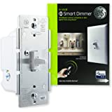 GE Z-Wave Plus Smart Control Light Dimmer Switch, Toggle Style, in-Wall, White, Repeater and Range Extender, Zwave Hub Required-Works with Smartthings Wink and Alexa, 14295
