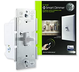 GE Enbrighten Z-Wave Plus Smart Dimmer Toggle Light Switch, Full Dimming, in-Wall, Built-in Repeater/Range Extender, Zwave Hub Required, Works with SmartThings Wink & Alexa, 14295