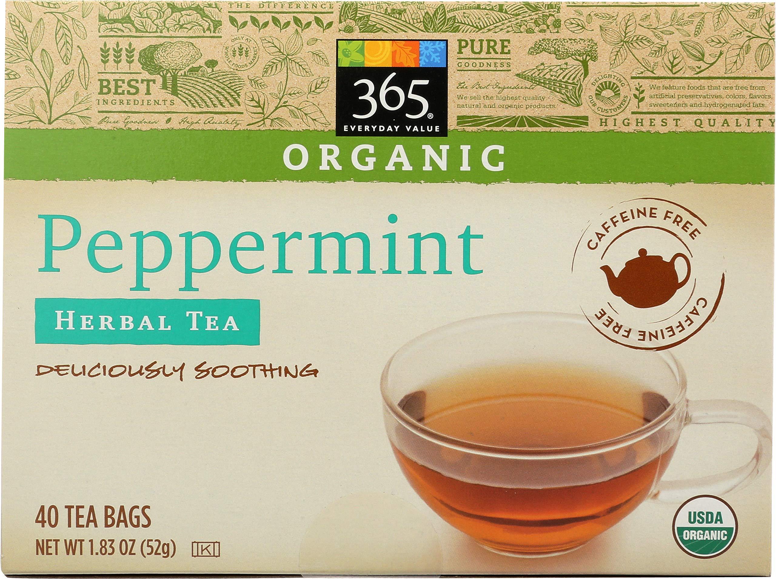 365 Everyday Value, Organic Peppermint Tea (40 Bags), 1.9 Ounce