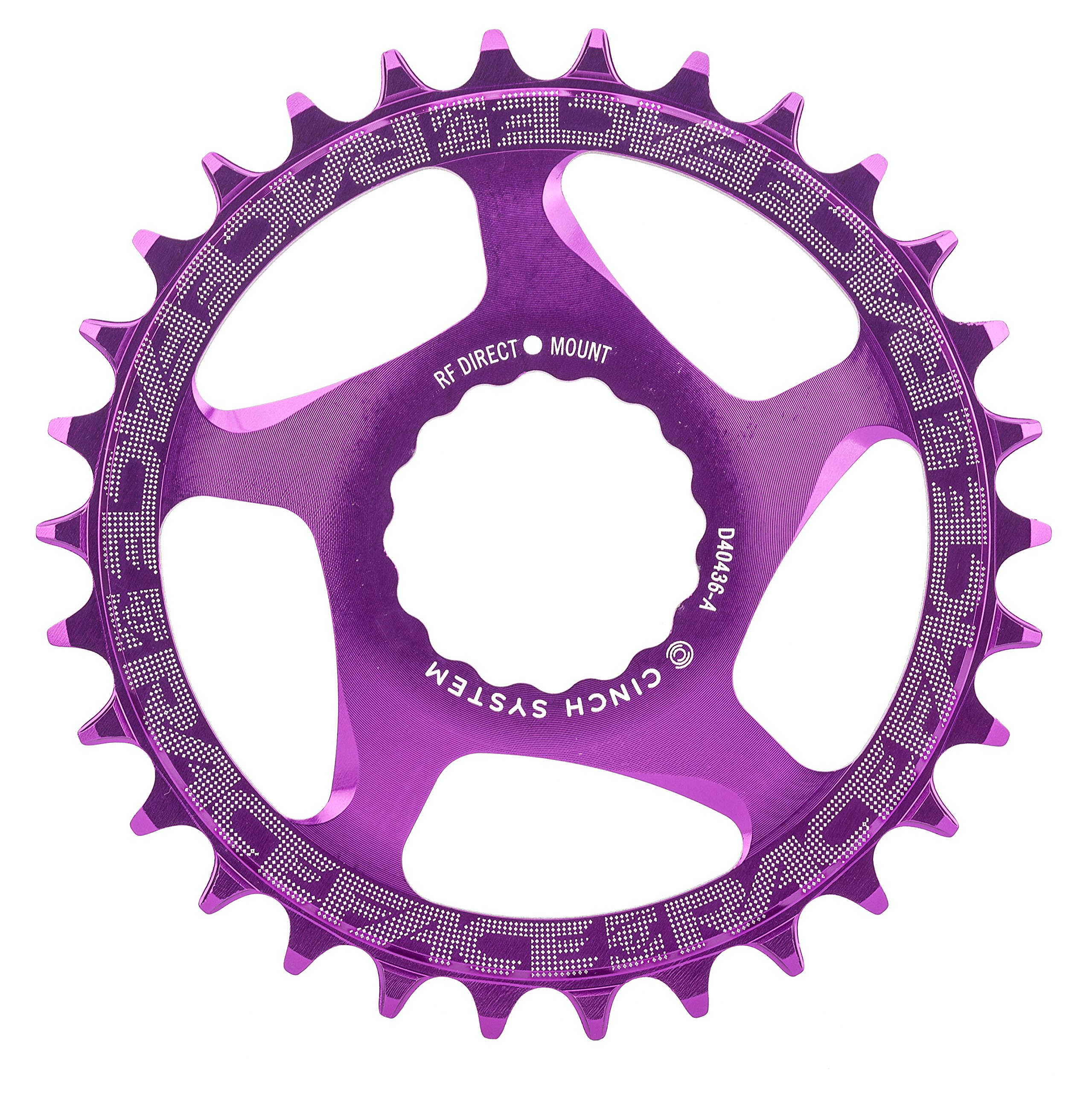 RaceFace Narrow Wide Cinch Direct Mount Chainring Purple, 30T by RaceFace