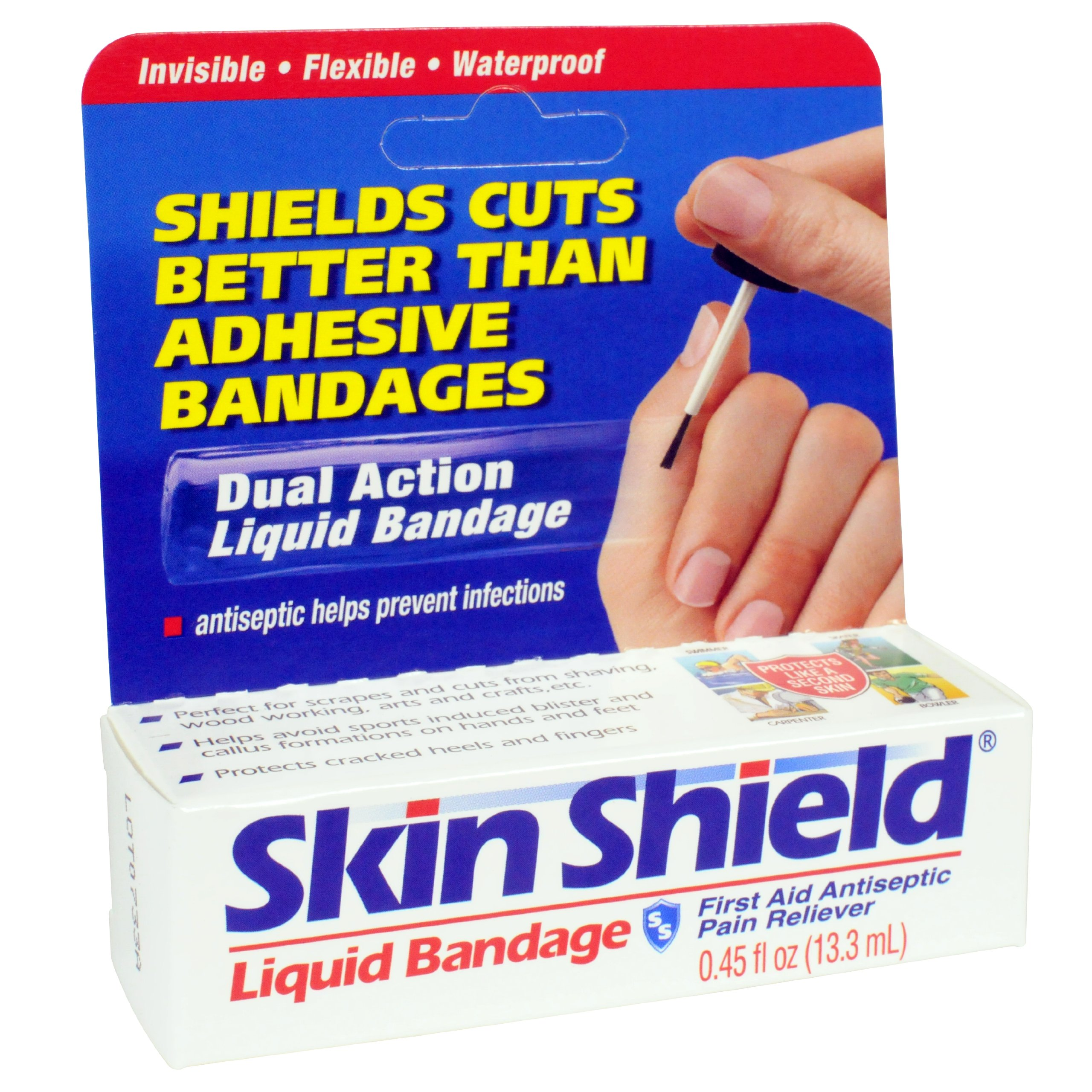 Skin Shield Liquid Bandage, 0.45-ounce (Pack of 6)