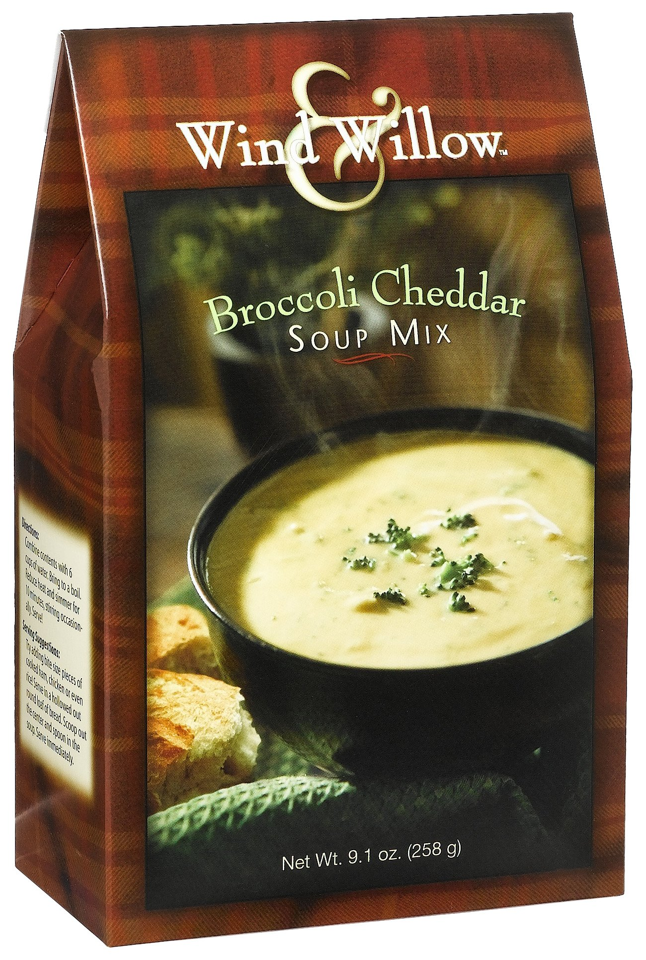 Wind & Willow Broccoli Cheddar Soup, 9.1-Ounce Boxes (Pack of 4)