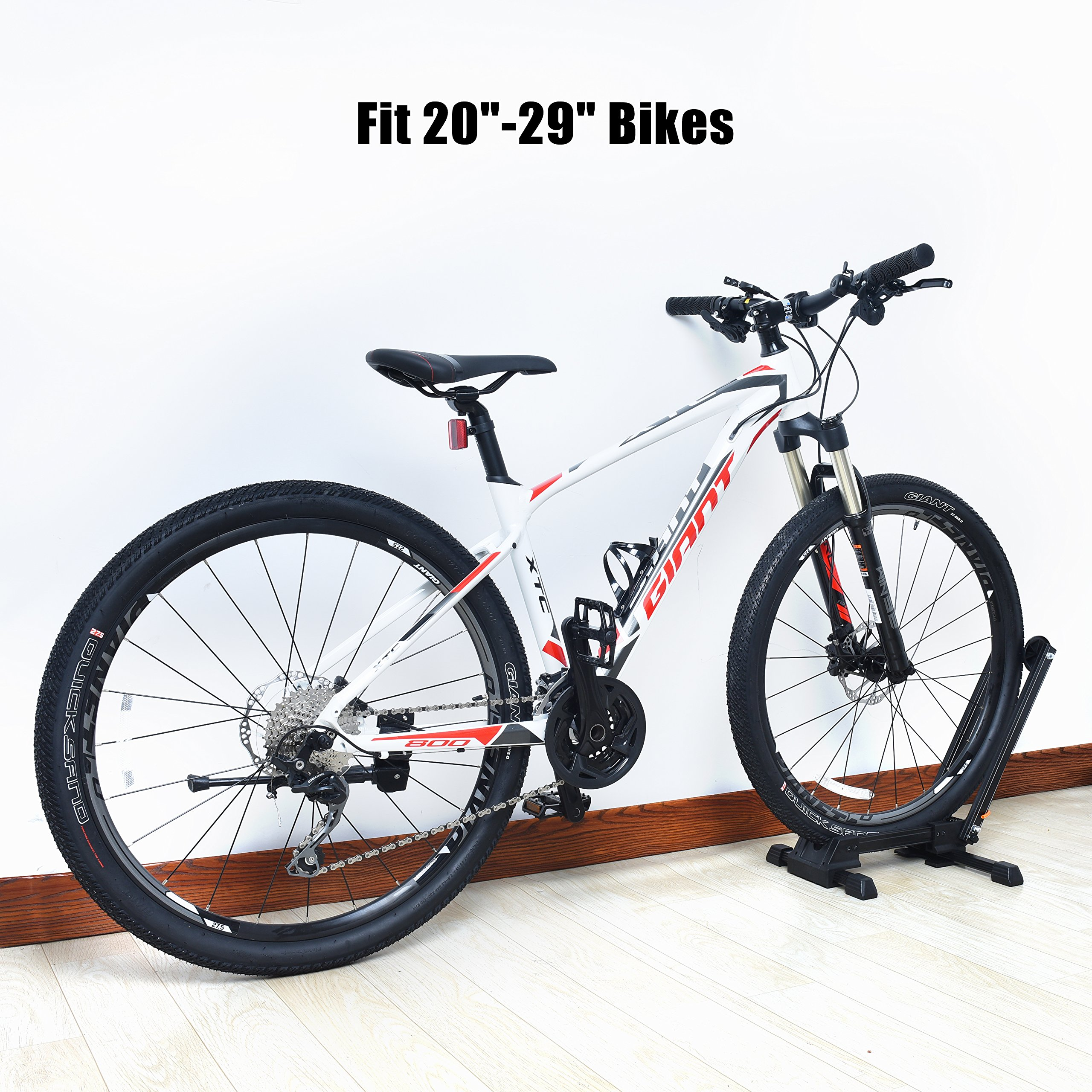 Bike Folding Stand Floor Parking Rack Alloy Bicycle Holder Bikes Home Garage Indoor Storage Fit 20''-29'' by Auwey (Image #3)