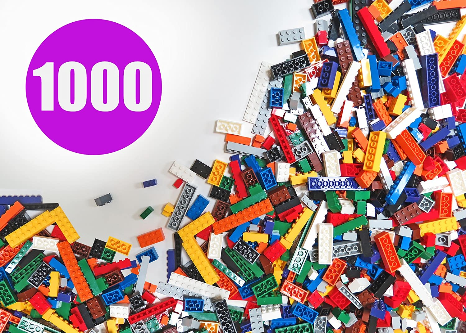 Building Bricks - Regular Colors - 1,000 Pieces Classic Bricks - Compatible with all Major Brands Review