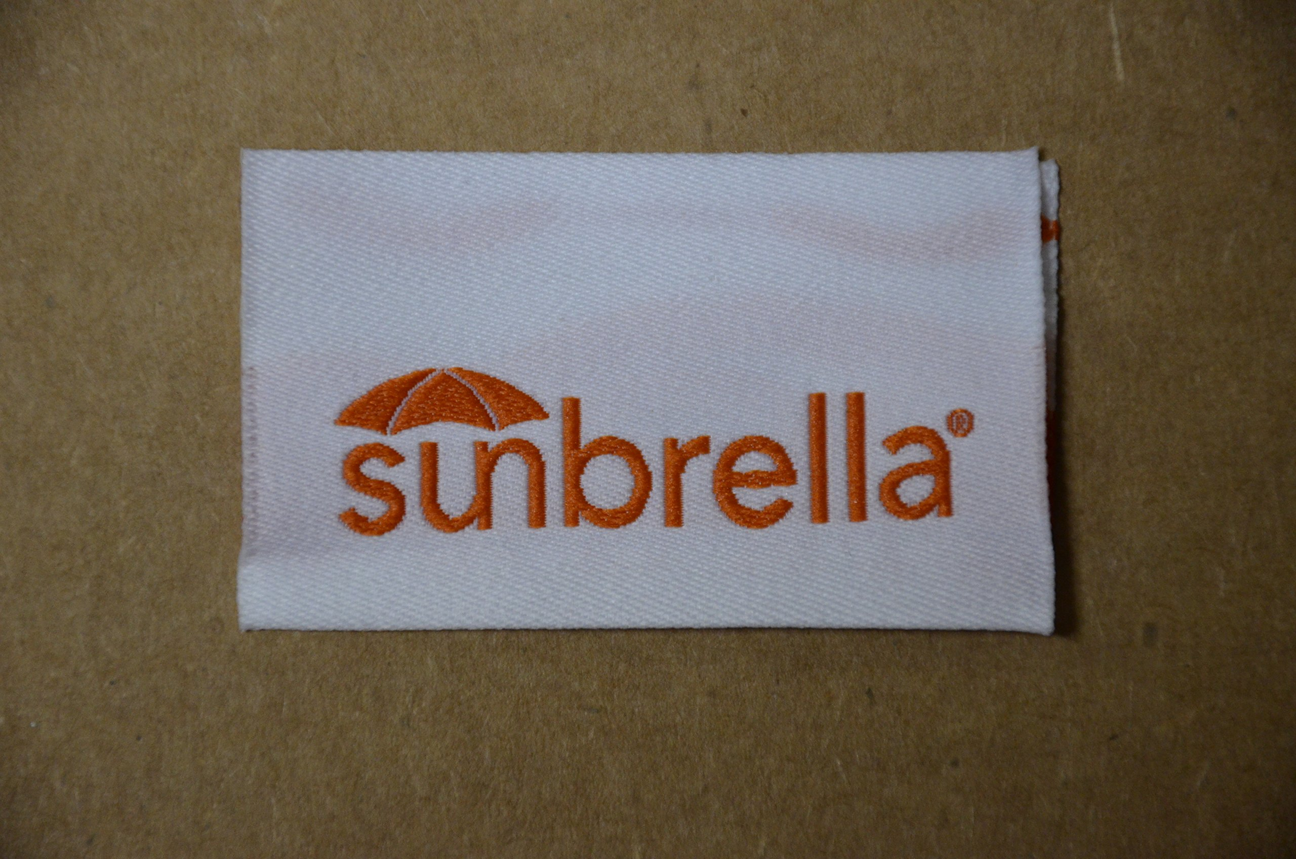 Sunbrella Marine Fabric 60'' Jet Black (6 yards) and Sewing Tag