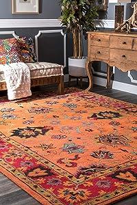 """nuLOOM Montesque Hand Tufted Wool Runner Rug, 2' 6"""" x 10', Orange"""