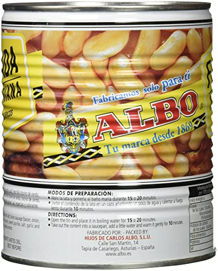 Fabada Asturiana RO-850. Peso Neto 850. Sin conservantes ni ...