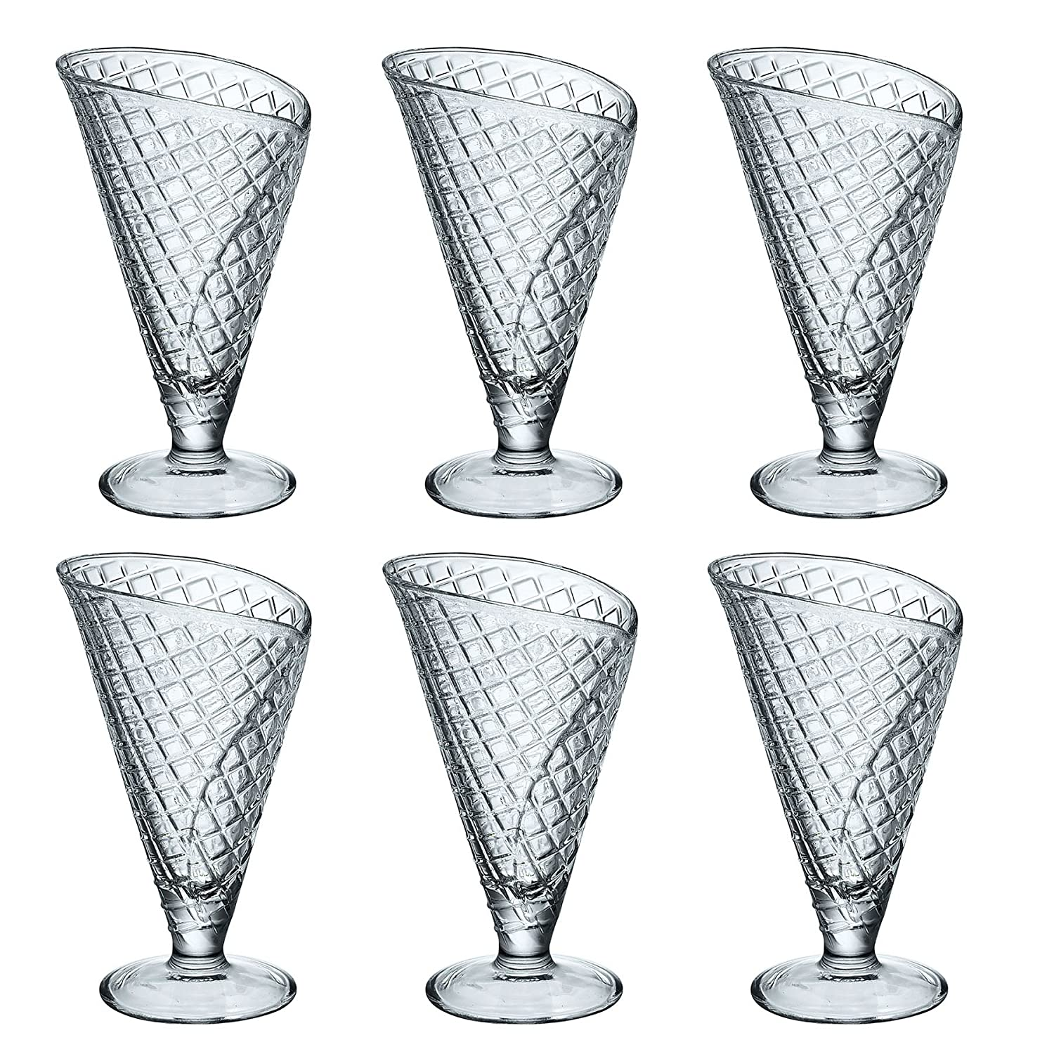 Bormioli Rocco Gelato Clear Ice Cream Sundae Dessert Glasses - 280ml - Pack of 6