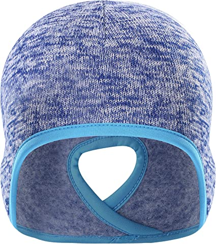 Thursday April 2 Pack Skull Cap Thermal Cycling Beanie Hat with Ear Covers Windproof Elastic Helmet Liner for Men Women Running Women Skiing Outdoor Sports