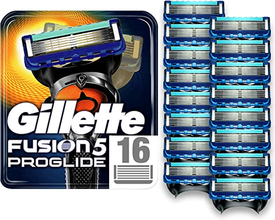 Gillette Fusion5 ProGlide Razor Blades for Men with Precision Trimmer, Pack of 16 Refill Blades, (Suitable for Mailbox)