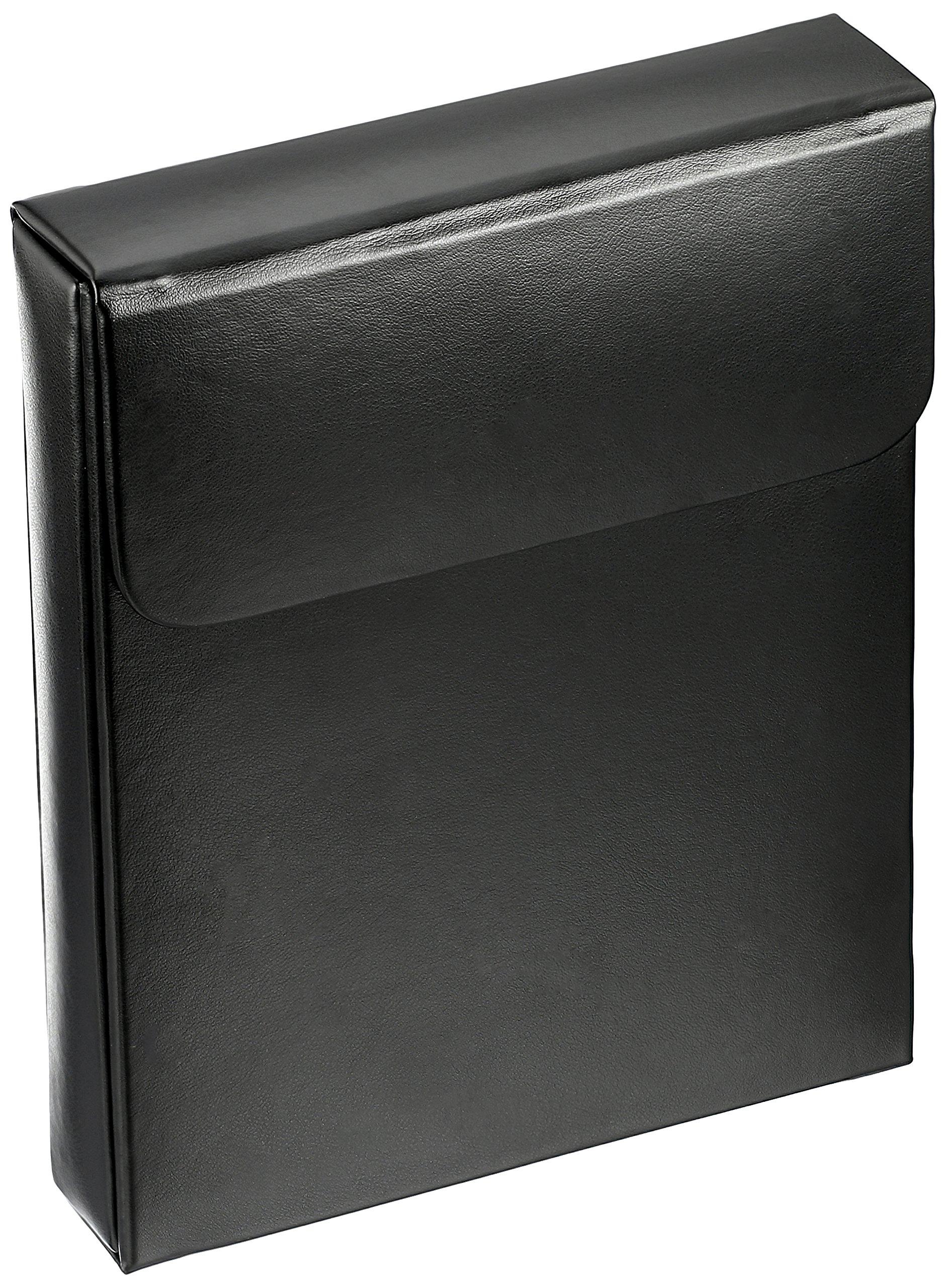 WOLF 99504 Heritage 2 Piece Watch Box, Black