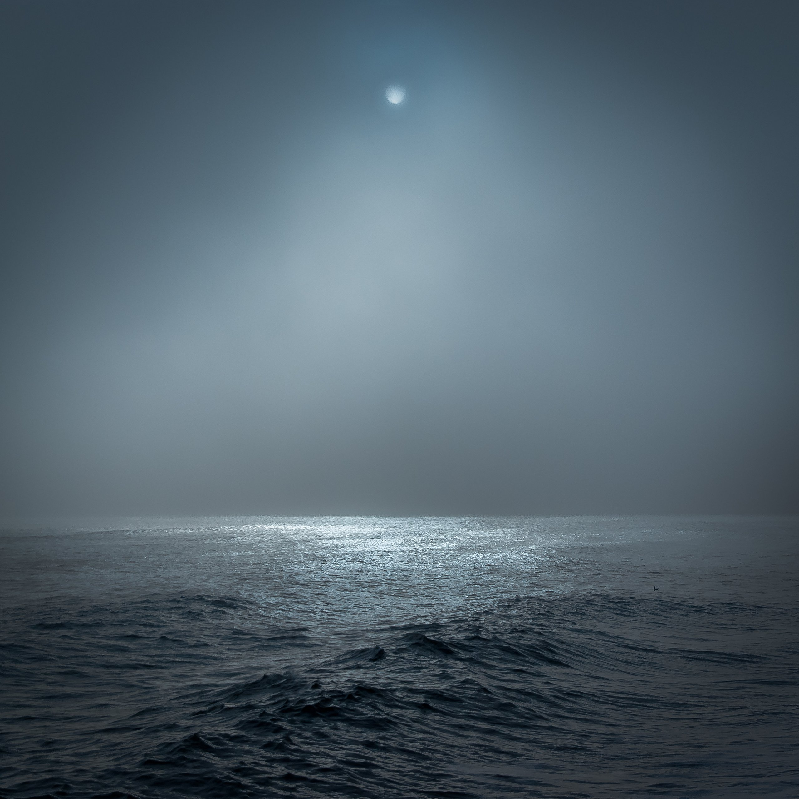 Blue Sea And Moon by