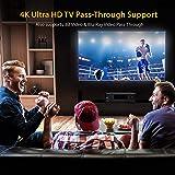 5.2-Channel Hi-Fi Bluetooth Stereo Amplifier - 1000 Watt AV Home Speaker Subwoofer Sound Receiver W/Radio, USB, RCA, HDMI, Mic in, Wireless Streaming, Supports 4K UHD TV, 3D, Blu-Ray - Pyle PT694BT