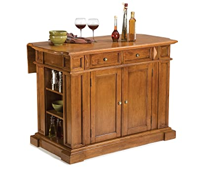 Exceptional Home Styles 5004 94 Kitchen Island, Distressed Oak Finish