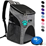 PetAmi Premium Pet Carrier Backpack for Small Cats and Dogs | Ventilated Design, Safety Strap, Buckle Support | Designed…