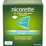 Nicorette Icy White Chewing Gum, 2 mg, 210 Piece