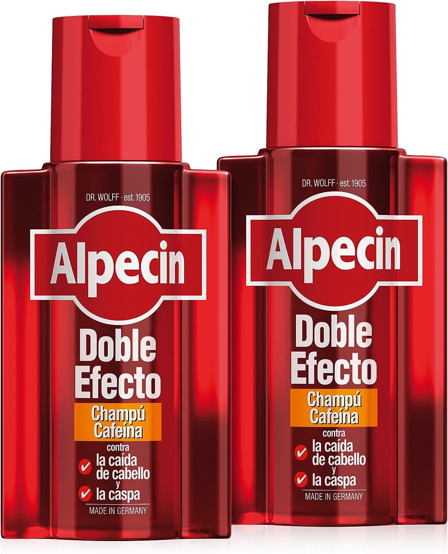 Alpecin Champú Doble Efecto, 2 x 200 ml – Champú anticaída y ...