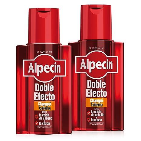 Alpecin Doble Efecto Champú Cafeína, Champú anticaída y anticaspa - 2 x 200ml=400ml