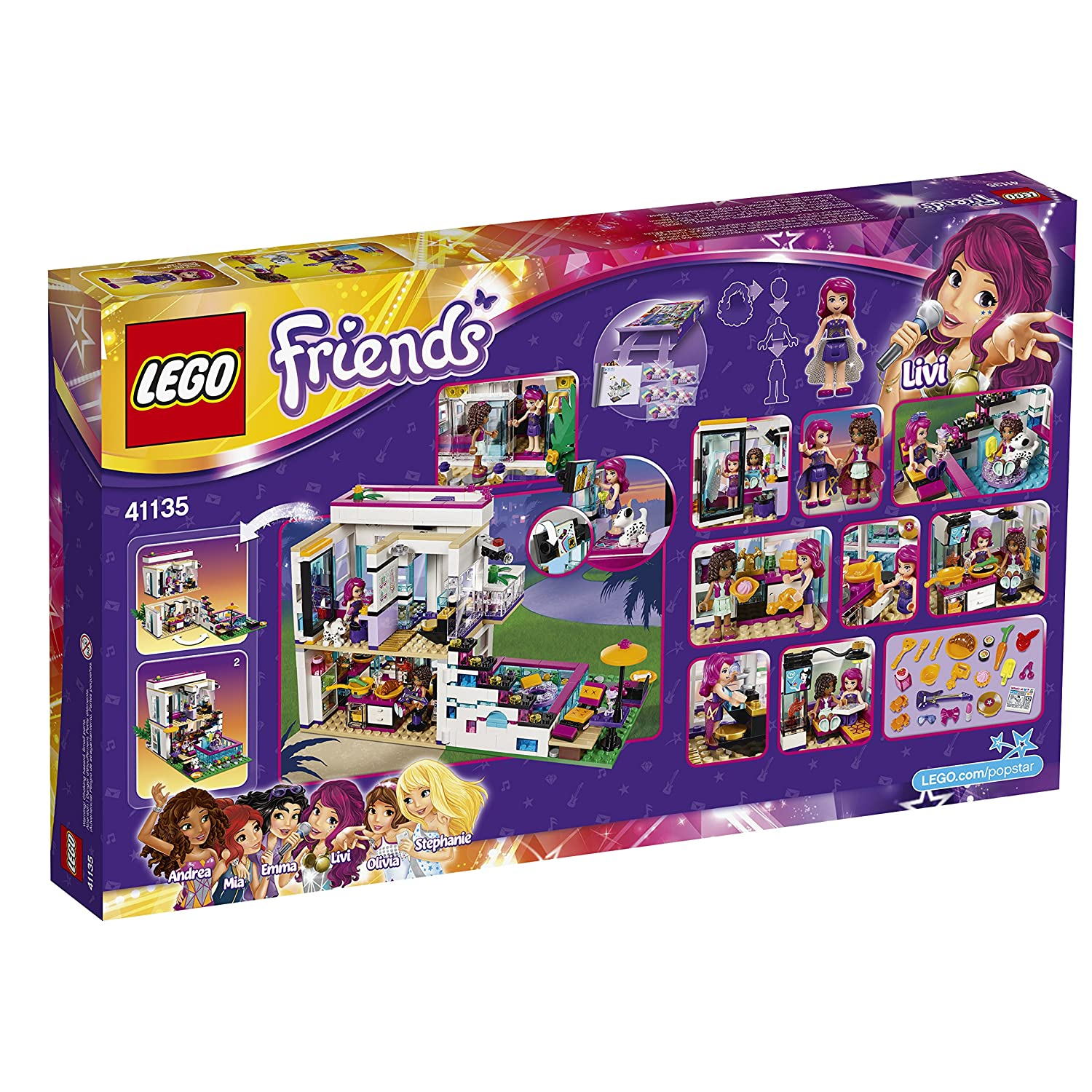 Amazon LEGO Friends Livis Pop Star House Toys Games