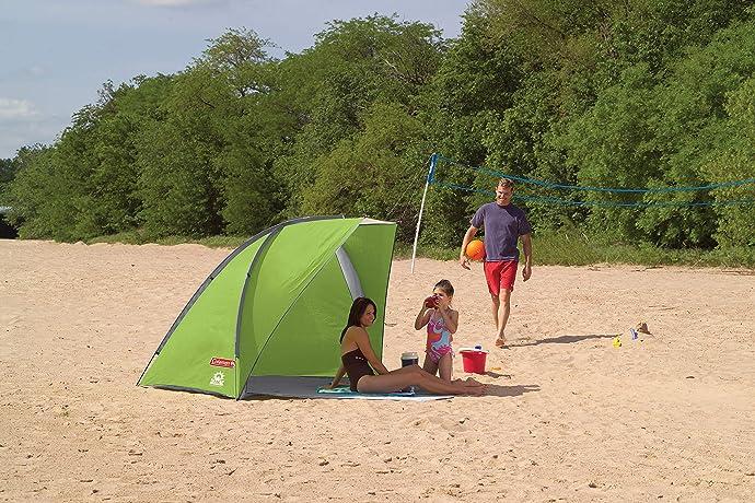 Coleman 科勒曼 UPF50+防晒 便携沙滩帐篷 5.8折$35 海淘转运到手约¥471