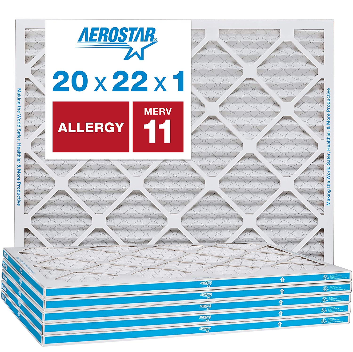Nordic Pure 13x25x1 MERV 13 Pleated AC Furnace Air Filters 3 Pack