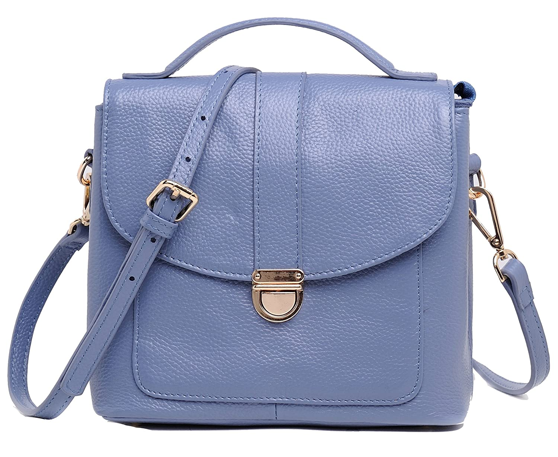 154ba36cd90 Heshe Women s Leather Handbags Small Size Shoulder Bag Hand Carry Cross  Body Bags Satchel Purse