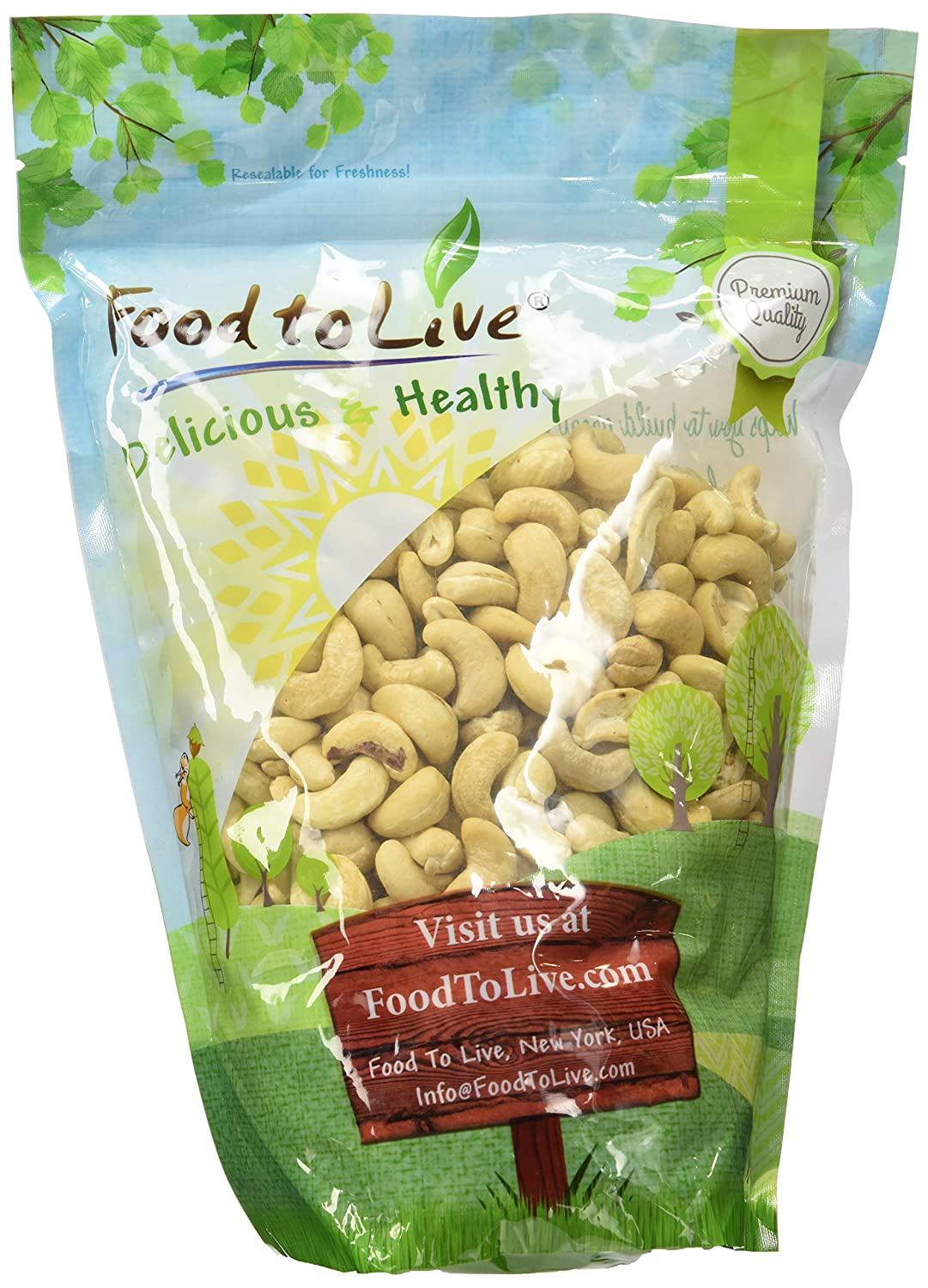 Food to Live Nueces de anacardo crudas 906 gramos: Amazon.es: Alimentación y bebidas