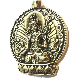 Amazon green tara pendant collectible medallion necklace kwan yin buddhist pendant necklace healing jewelry green tara mozeypictures Gallery