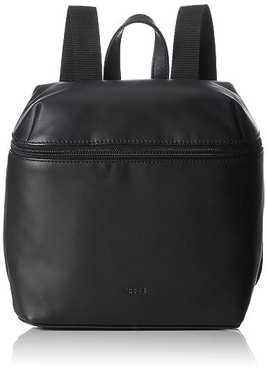 Bree Vora 4, Black, Backpack M, Sac femme, Schwarz (Black), 12x27x23 cm (B x H T)