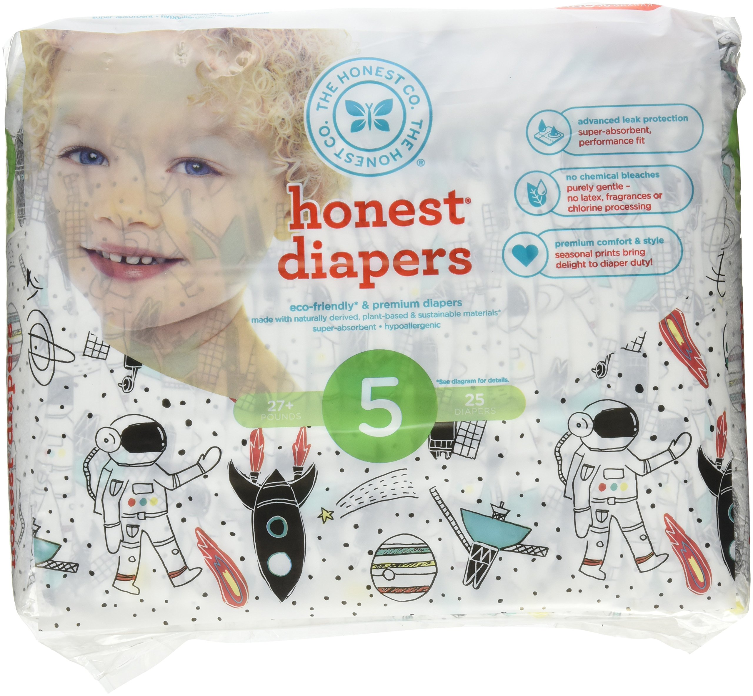 The Honest Company Diapers, Space Travel, Size 5, 25 Count by The Honest Company (Image #1)