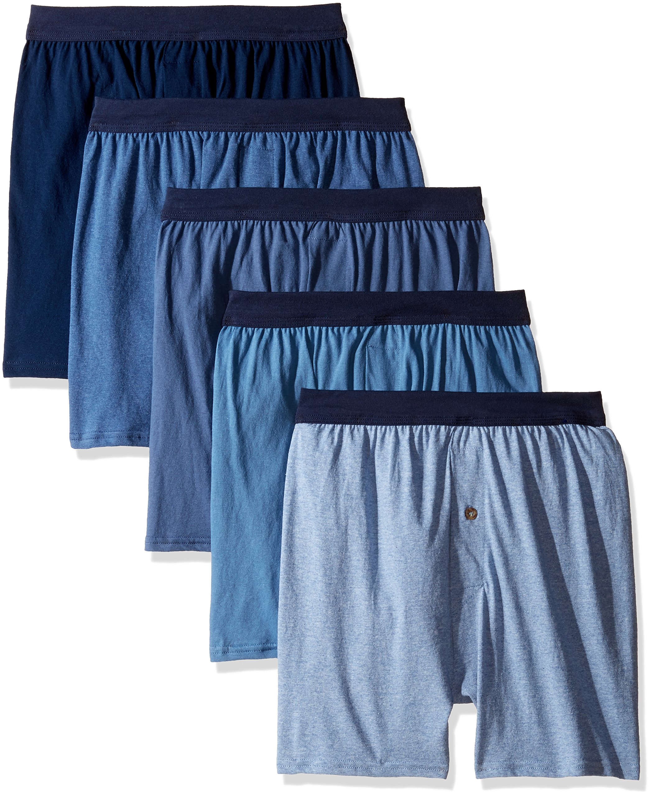 Hanes Men's 5-Pack Red Label FreshIQ Comfortsoft Boxer with ComfortFlex Waistbands (XXX-Large, Assorted)