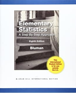 Amazon student solutions manual elementary statistics a step elementary statistics a step by step approach fandeluxe Image collections