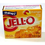 Jell-o Gelatin Dessert, Mango, 3-ounce Boxes (Pack of 4)