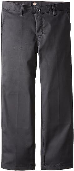 2ac280db6a9ec Dickies Boys P0700 Flat Front(Husky 8-20) Pants  Amazon.co.uk  Clothing