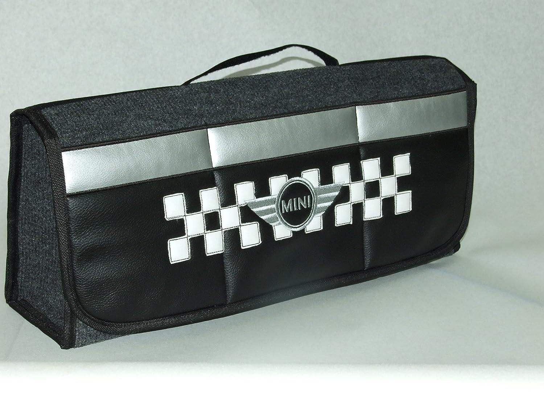Rangement pour coffre de voiture avec drapeau à damiers en similicuir, compatible avec tous les modèles Cooper best