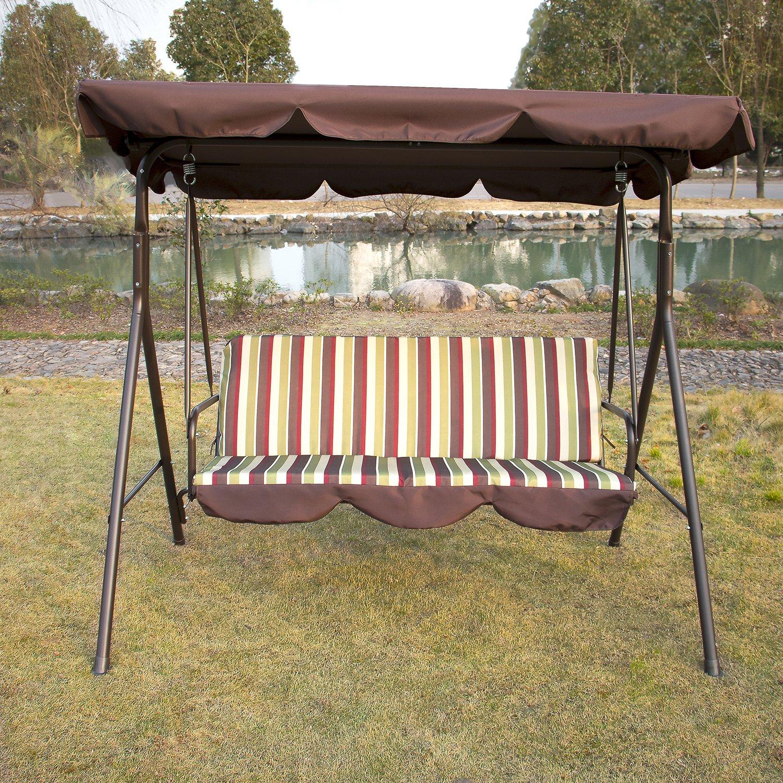 Bestmart INC Outdoor Garden Yard Patio Streamer Seat Relaxer Balcony Canopy Porch Swing Glider Hammock by Bestmart INC