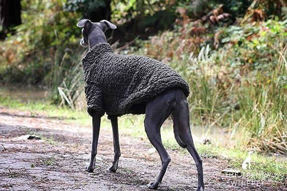 Lurcher Cachi Verde Morbido Pile Jumper Pigiama Italian Greyhound Saluki Sighthound Greyhound Whippet