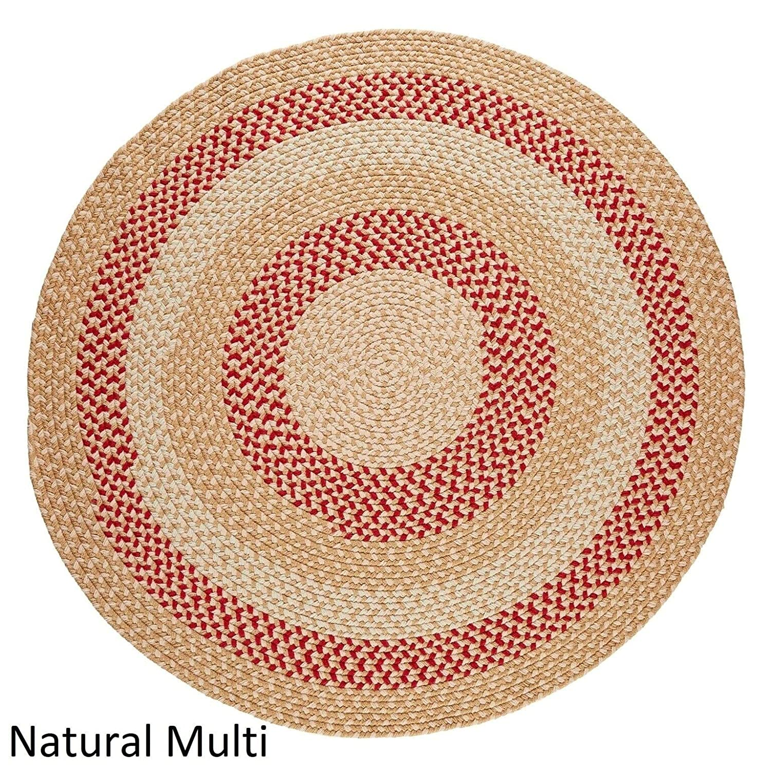 Amazon Com Rhody Rug Mission Hill 8 Ft Round Indoor Outdoor Braided