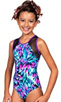 TumbleWear Girl's Kiera Feathers Leotard