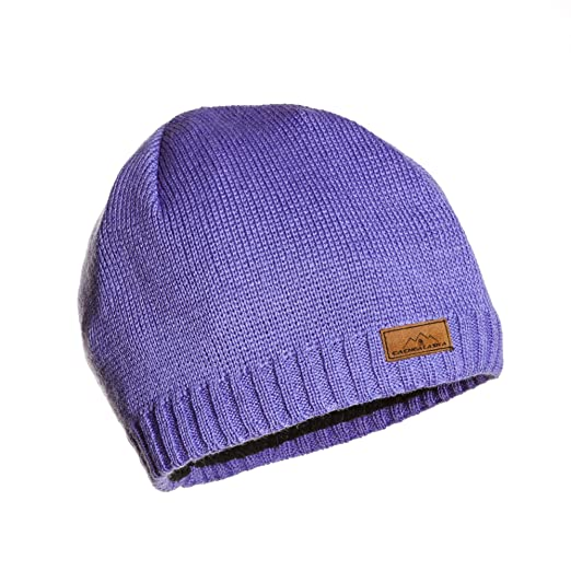 CacheAlaska Beanie Knit Ski Cap Periwinkle - Premium Wool Blend - Designed 85feabd1433