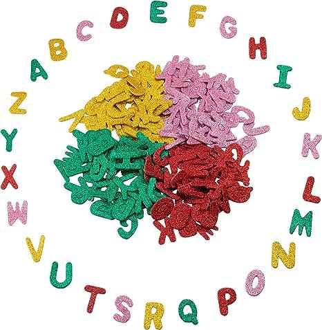 Foam Alphabet  Sticky Letters Stickers Glitter Kids Art Craft Adhesive Kit
